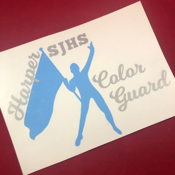 SJHS Color Guard decals