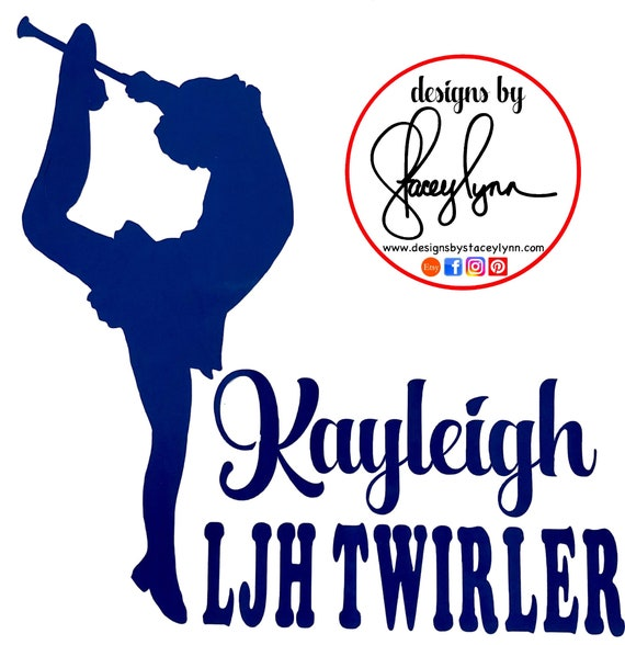 TWIRLER CAR DECAL | Custom decal of your twirler or stock twirler |Baton Twirler | Majorette | Custom Car Decal | Free Shipping