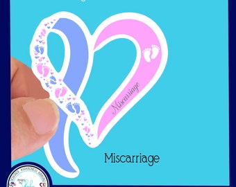 Miscarriage/ Rainbow Baby Awareness Waterproof Sticker - Use for Hydroflask, Water bottle, Laptop, Car Window, Laminated & Choice of Size