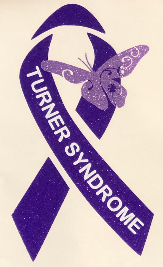 Turner Syndrome Awareness Ribbon Decal | Use for car windows, cups & water bottles, laptops and more