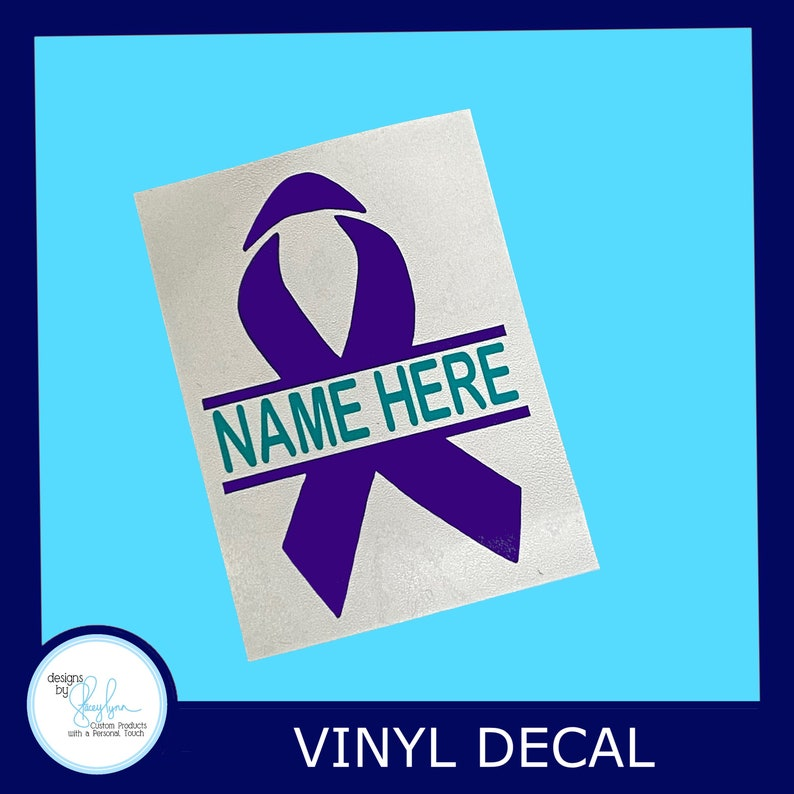 Personalized Suicide Awareness Ribbon Decal with first name image 0