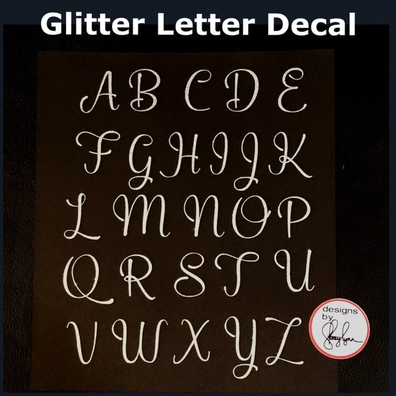 GLITTER LETTER   Choose size & color   Sticker for Yeti cups, tumblers, mugs, water bottles, cars, laptops and devices