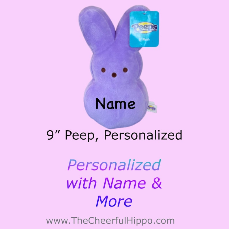 CUSTOM PEEP 9 inch Purple-add name text photos and awareness image 0