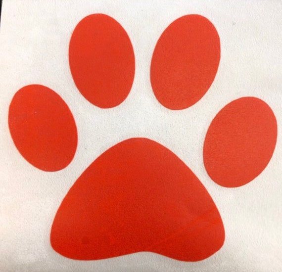 PAW PRINT DECAL | paw sticker | School Spirit | Decals for Yeti cups, tumblers, mugs, water bottles, cars, laptops and devices