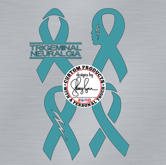 TRIGEMINAL NEURALGIA Awareness Ribbon Decal | Teal Ribbon | Facial pain Awareness Ribbon | TA