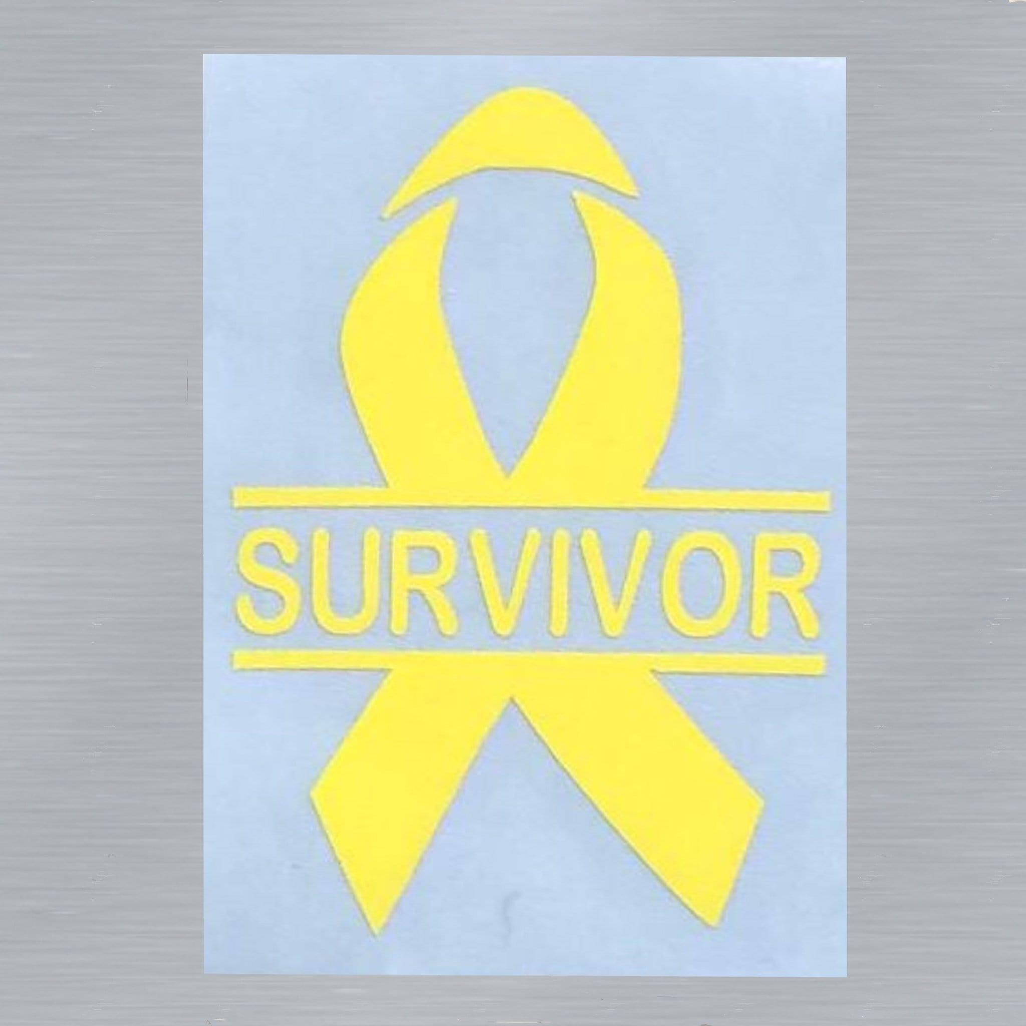 Cancer SURVIVOR Awareness Decal | Any Color | Awareness Ribbon