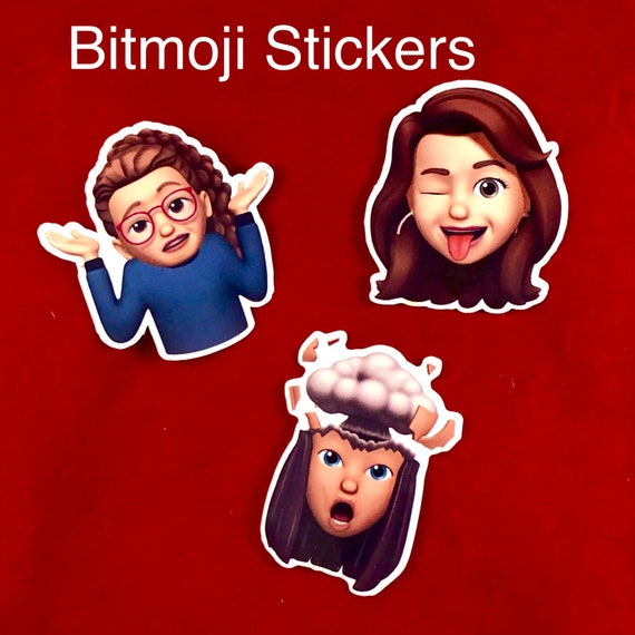 Waterproof BITMOJI Sticker, Die-Cut Character Sticker, Selfie, Kids, stickers, logo | Assorted sizes available