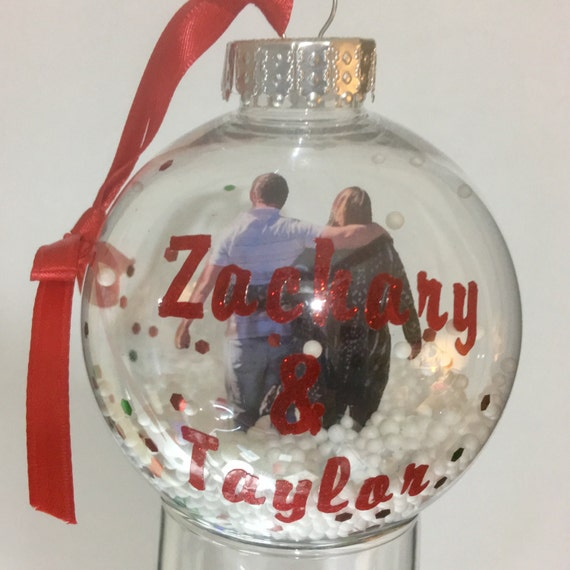 """3.25"""" Personalized Floating photo ornament"""