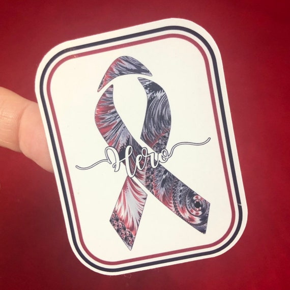 American Hero Red, White & Blue Sticker- Waterproof, tear-resistant, vinyl decal available in assorted sizes or full sheets