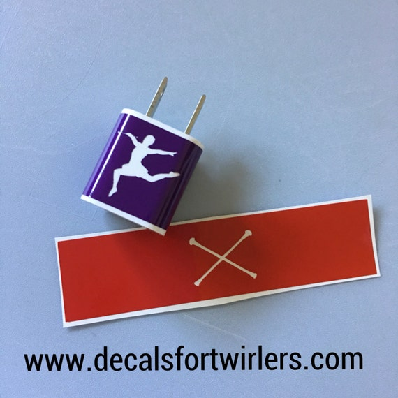 BATON TWIRLER Charger Cube DECAL- Decal for iPhone Charging Cube | Free Shipping