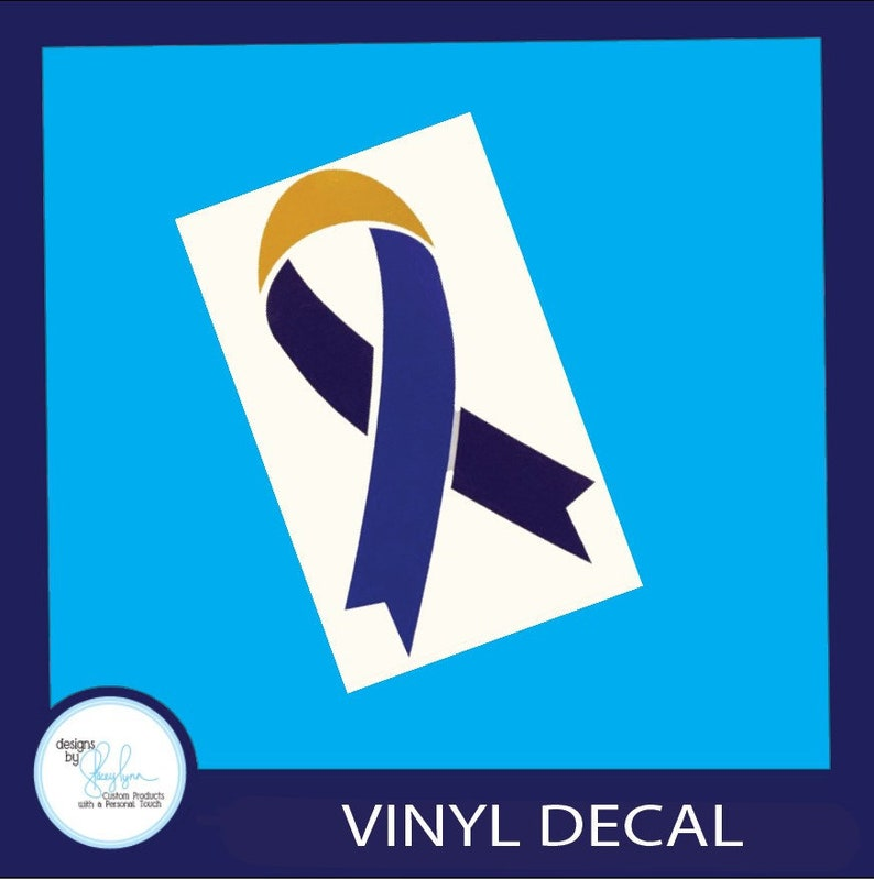 Bladder Cancer Awareness Ribbon Decal  Use for car windows image 0