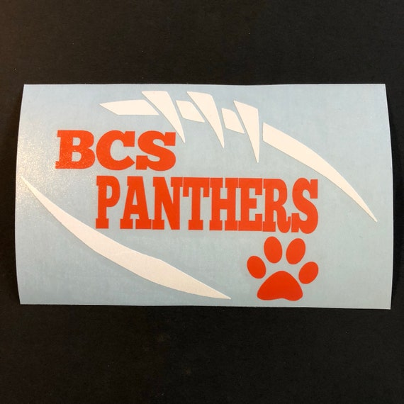 Bradenton Christian School, Panthers Football DECAL - use for laptops, car windows, Yeti Tumblers & more