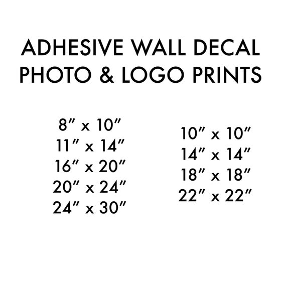 Wall decal Photo Prints, Assorted & oversize, adhesive backing