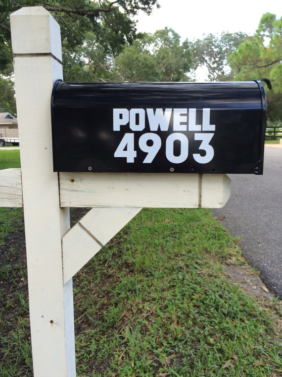 """MAILBOX NUMBER decals, 2"""" tall, Set of 2 