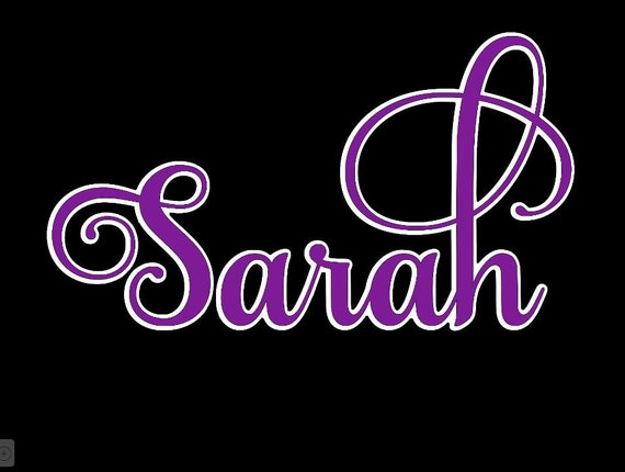 GLITTER Fancy Name  WALL decal   Choose size & color   Fancy, swirly name   Decals for girl's bedroom, dorm room, nursery decor, teen room