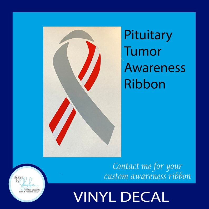 Pituitary Tumor Awareness Ribbon Decal  Use for car windows image 0