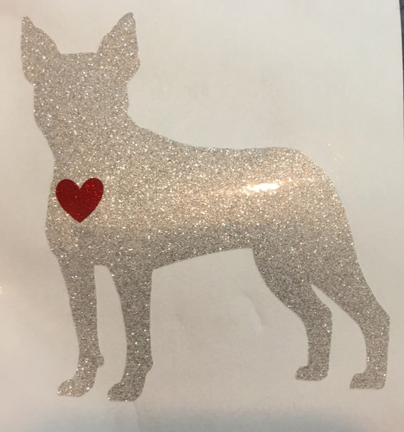 BOSTON TERRIER Glitter Decal (Artist Exclusive!)   Free shipping