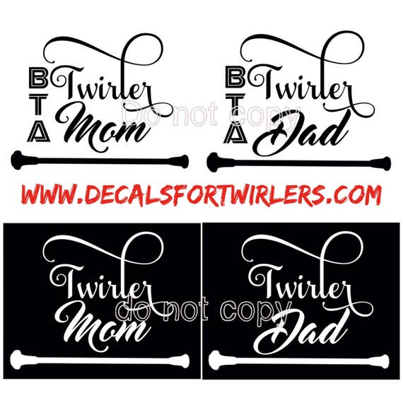 TWIRL MOM or DAD decal for Yeti cups, tumblers, mugs, water bottles devices etc | Free shipping