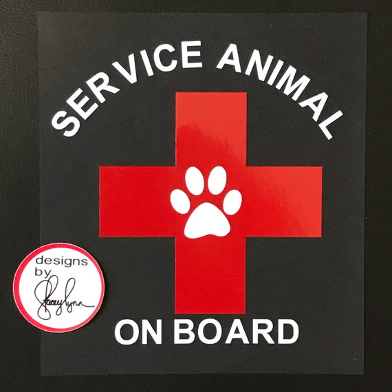 Service Animal on Board car decal | Service Dog Decal | Support Animal | Service animal car decal
