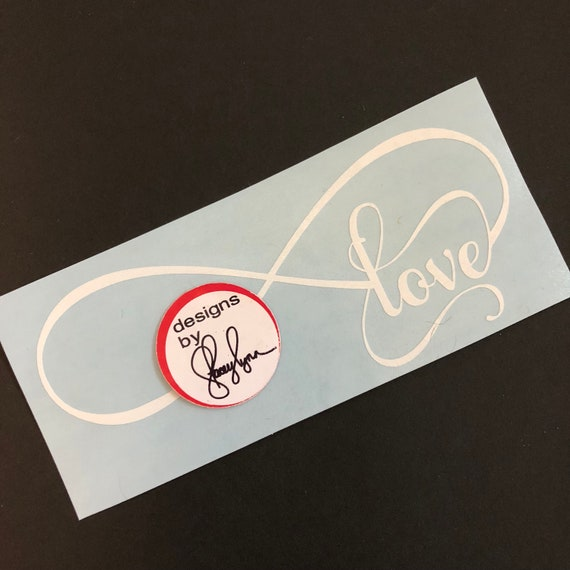 LOVE DECAL; waterproof sticker available in assorted sizes and colors