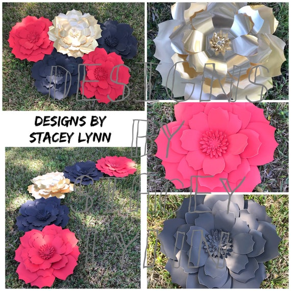 Paper flowers decor contact me today to place your custom order paper flowers set of 5 table decor paper flower wedding decor flower mightylinksfo