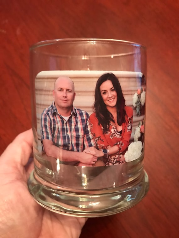 PHOTO Candle Holder, WATERPROOF, High Quality shaped decal using your favorite photo or logo | Customization available
