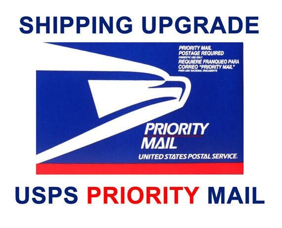 "Upgrade to PRIORITY Mail -| US Shipments Only |For items under 11"" and weighing less than 1 lb"