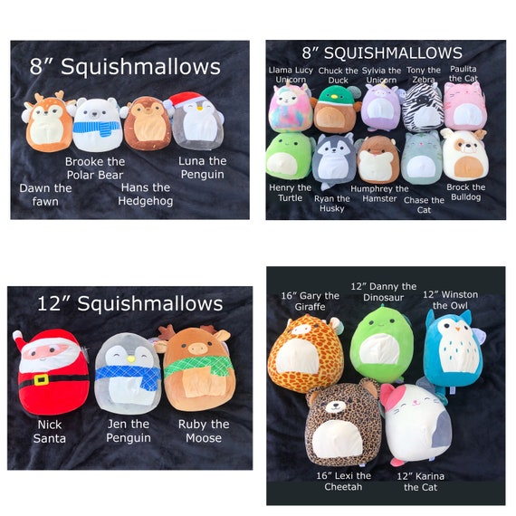 Personalized Squishmallows with name or monogram