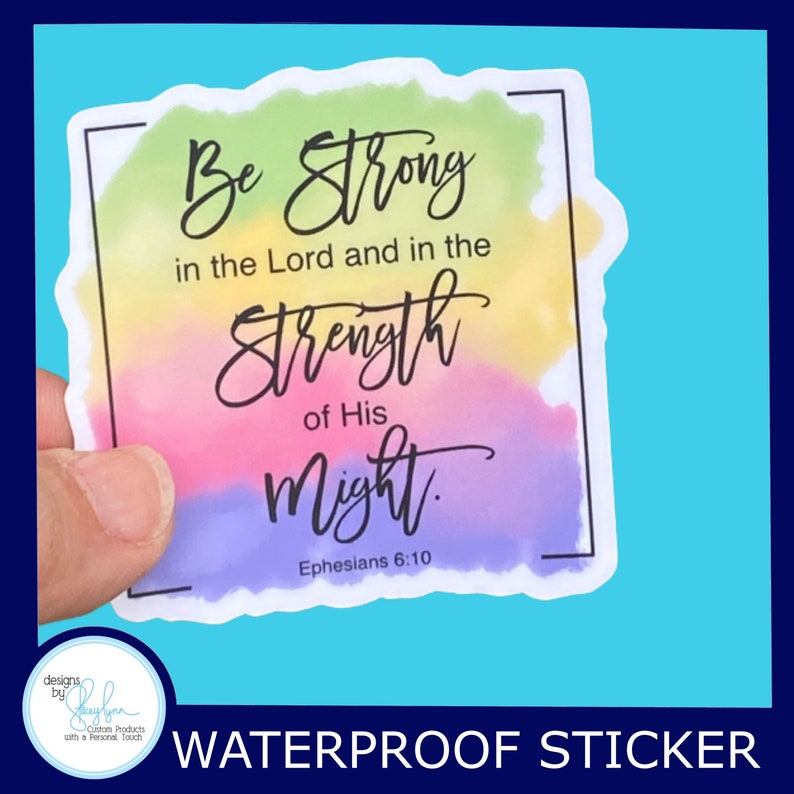 Be Strong in the Lord  Ephesians 6:10  Christian Faith 2.5 image 0