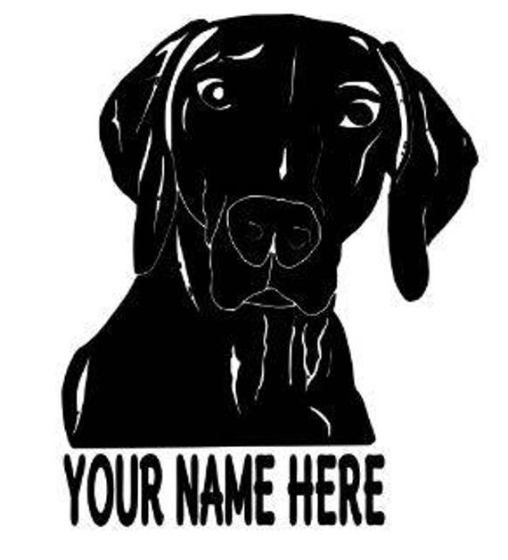 WEIMARANER decal with name for tumblers, cars, laptops, devices etc   FREE shipping