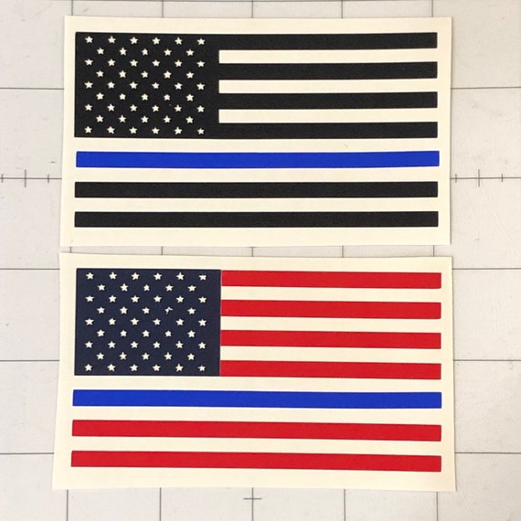 Thin blue line decal | Yeti thin blue line flag decal | Flag decal | car truck laptop police lives matter decal  | FREE shipping