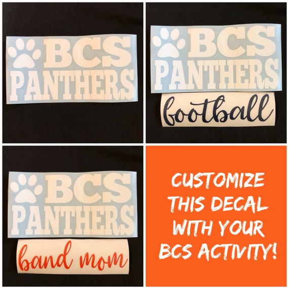 Bradenton Christian School, Panthers DECAL - Use for laptops, car windows, Yeti Tumblers & more