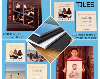 Photo Tiles, Lightweight, High Quality | Choice of size and mounting material | Display Indoors or Outdoors