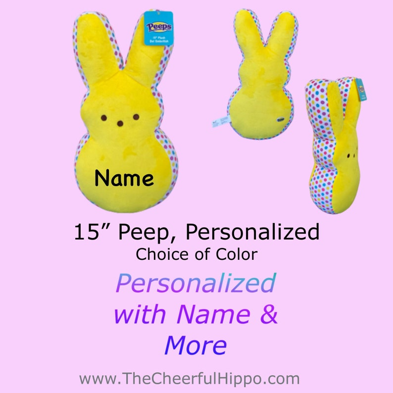 CUSTOM PEEP 15 inch Yellow-add name text photos and image 0