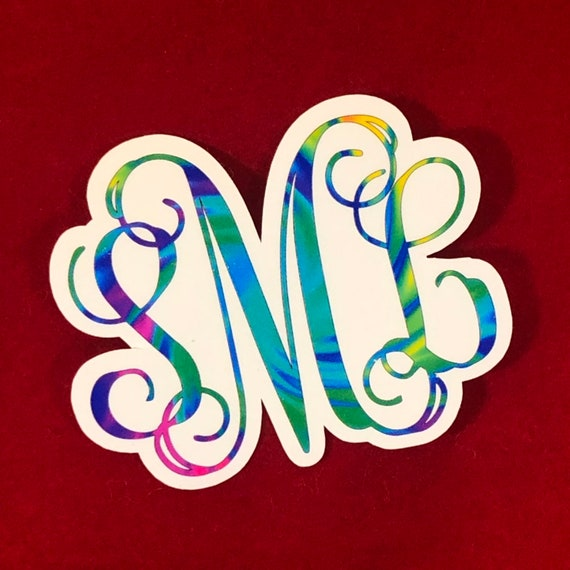 Waterproof Tie Dye Bright Colored Sticker