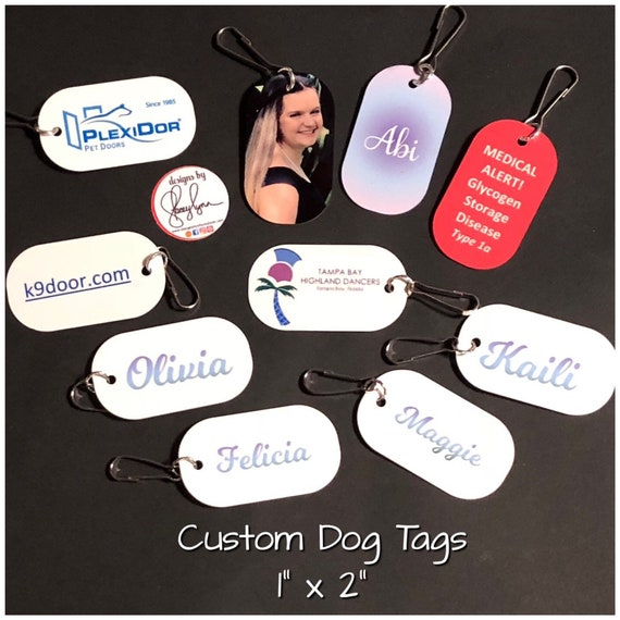"Custom dog tag | Approx 1"" x 2"" 