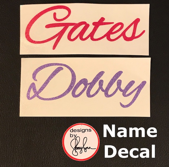Script NAME decals | Choose size & color | Name Sticker, Labels for Yeti cups, tumblers, mugs, water bottles, cars, laptops and devices