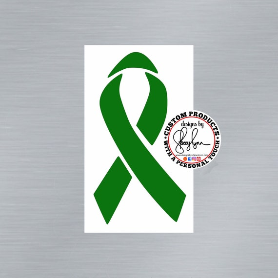 GLYCOGEN STORAGE DISEASE; Green awareness Ribbon Decal, Liver Disease