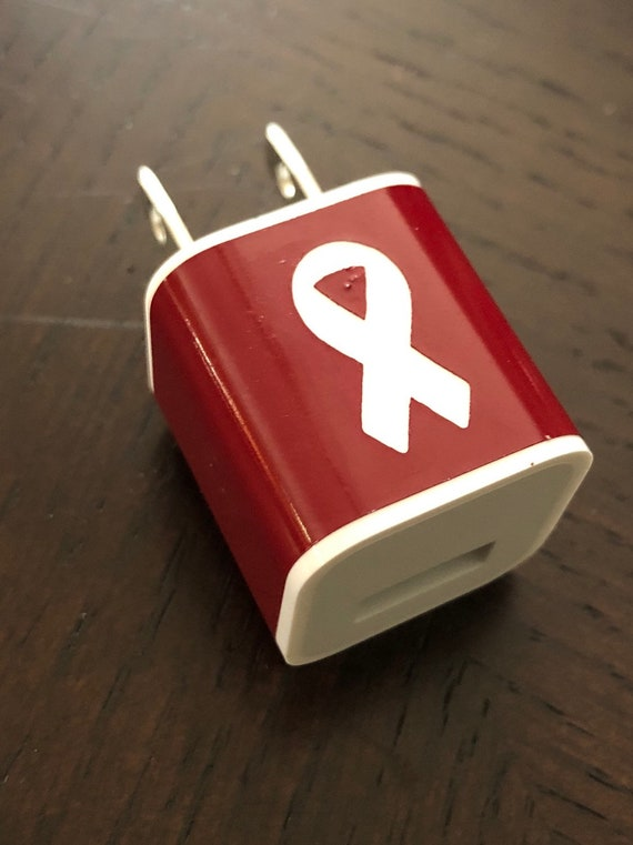 Awareness Decal for iPhone charging cube - available in single or bulk for fund raising