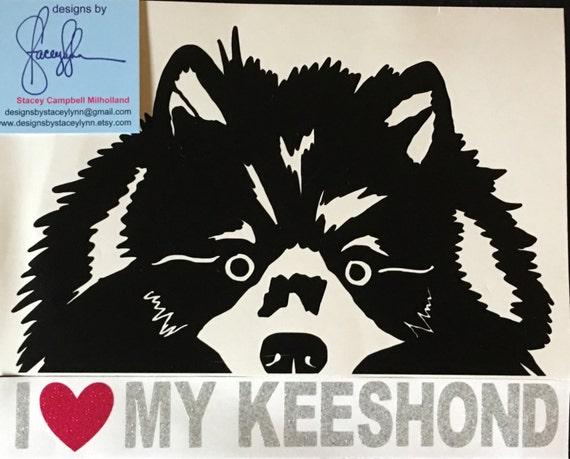 Peeking Keeshond decal | Use for Yeti products, tumblers, mugs, water bottles,devices and more | FREE shipping