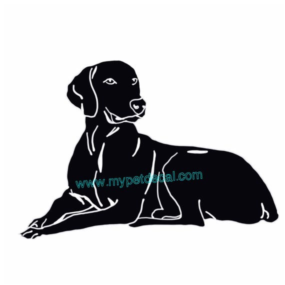 WEIMARANER decal for tumblers, cars, laptops, devices etc   FREE shipping
