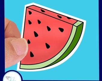 Watermelon Sticker Waterproof Sticker -  2.5 inch Laptop Sticker, Water Bottle Sticker,  , Cornhole Sticker