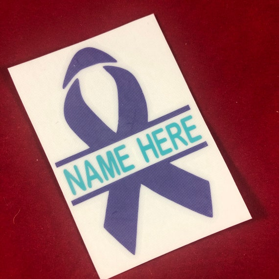 Personalized Suicide Awareness Ribbon Decal | Assorted Sizes | Stickers for Yeti cups, tumblers, mugs, water bottles, cars, laptops, etc