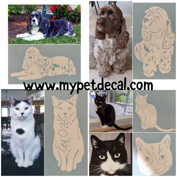 Decal of YOUR pet | Waterproof decal for drink-ware & car windows | FREE shipping
