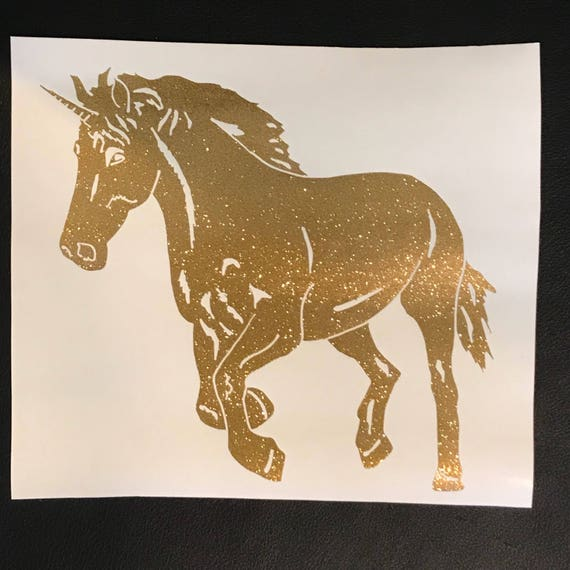 GLITTER Unicorn decal   car decal   device, laptop or Mac decal   FREE shipping