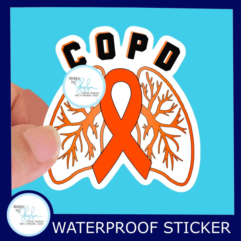 COPD Waterproof Sticker  Use for Hydroflask Water bottle image 0