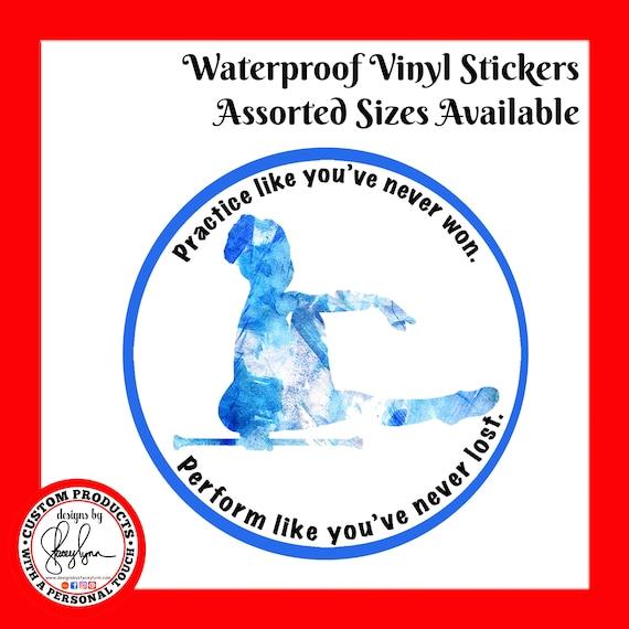 BATON TWIRLER STICKER Waterproof tear-resistant vinyl decal in assorted sizes