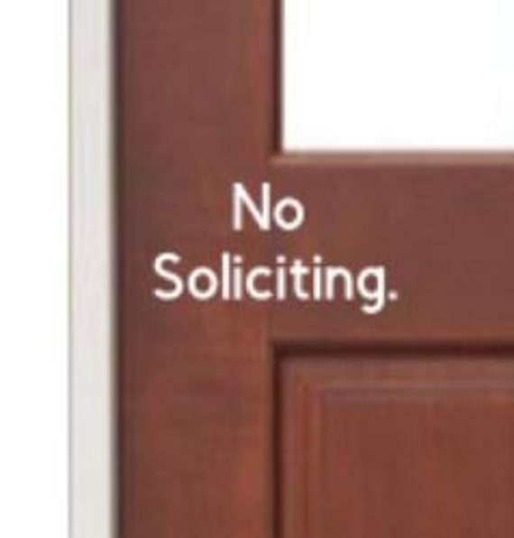 NO SOLICITING decal | No Soliciting Sticker | Decal for home or business