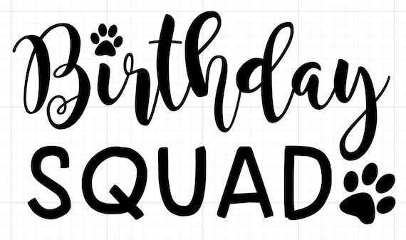 Birthday Squad Iron-On
