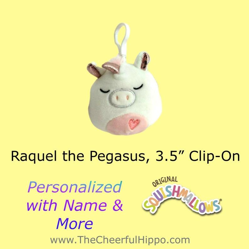 CUSTOM SQUISHMALLOW 3.5 inch clip on-Raquel the Pegasus-add image 0